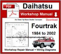 Daihatsu Fourtrak Service Repair Workshop Manual Download
